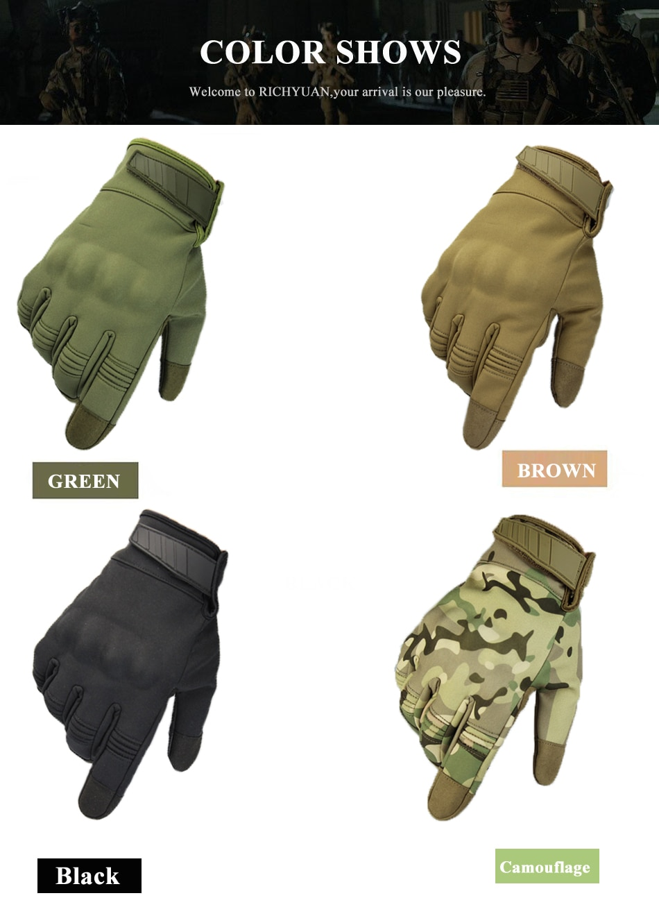 Multicam Camo Flexible Touch Screen Lightweight Breathable Assault Motorcycle Hard Knuckle Full Finger Gloves Outdoor Cycling enlarge