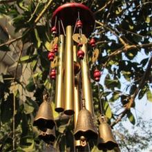 야외 생활 바람 종소리 마당 정원 튜브 종소리 구리 골동품 windchime 벽 매달려 홈 장식 장식 바람 종소리