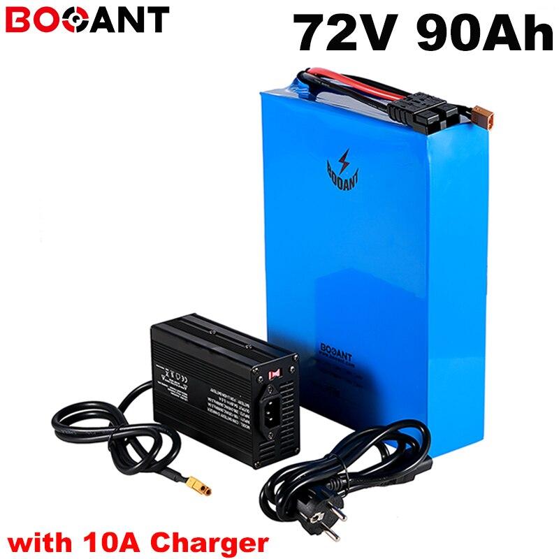 8000 W poderoso 5000 W 72 V 90Ah bateria de iões de lítio recarregável para Sanyo 18650 celular 72 20 S V carregador de bateria scooter com 84 V 10A