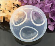 Molde redondo de silicona de 3 agujeros, molde de gota de agua, herramientas de decoración de pasteles, decoración de joyas
