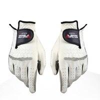 Men's Genuine Leather Golf Gloves Left Right Hand Soft Breathable Pure Sheepskin With Anti-slip granules Golf Gloves Golf