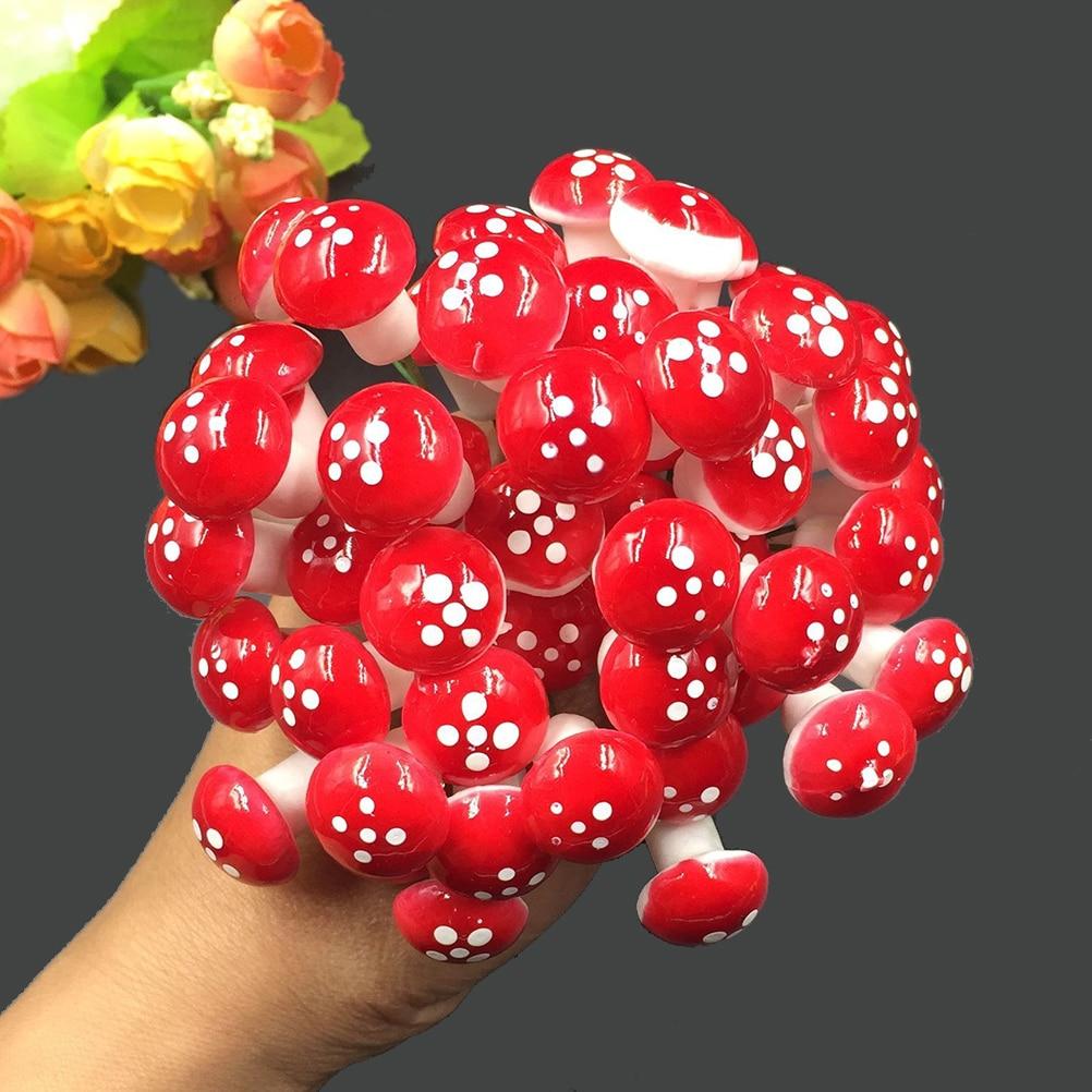 10 Pcs Set Mini Mushroom Miniatures Artificial Garden Fairy Moss Resin Crafts Decorations Stakes Craft For fairy garden supplies