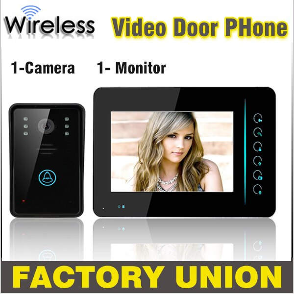 Videoportero inalámbrico de 7 pulgadas, intercomunicador, tecla táctil IR, visión nocturna, cámara de puerta a prueba de agua, sistema de videoportero doméstico