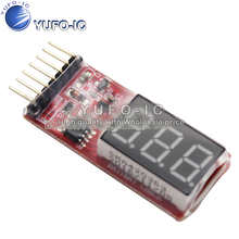1S-6S lithium battery low voltage alarm power display voltage electric display BB sound