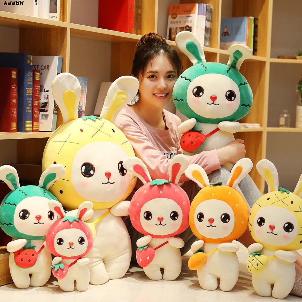 Creativo lindo conejo Rosa corto juguetes de peluche animal relleno Peluche de conejo juguete suave almohada de felpa niñas muñeca de trapo de regalo