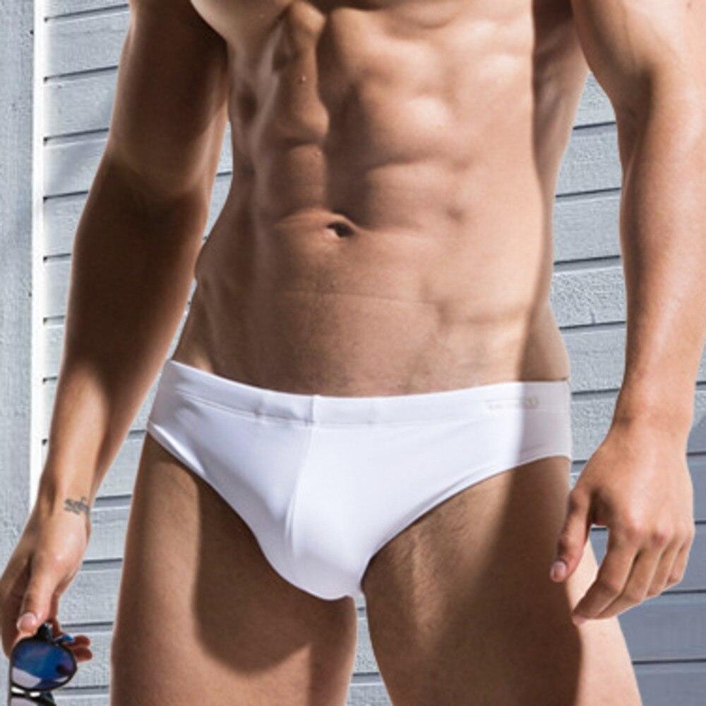Sexy Pouch Cup Padded Swimwear Mens Swim Briefs Male Beach Swimming Swimsuit Men Low Waist Sea Pool Bathing Suit Short Beachwear