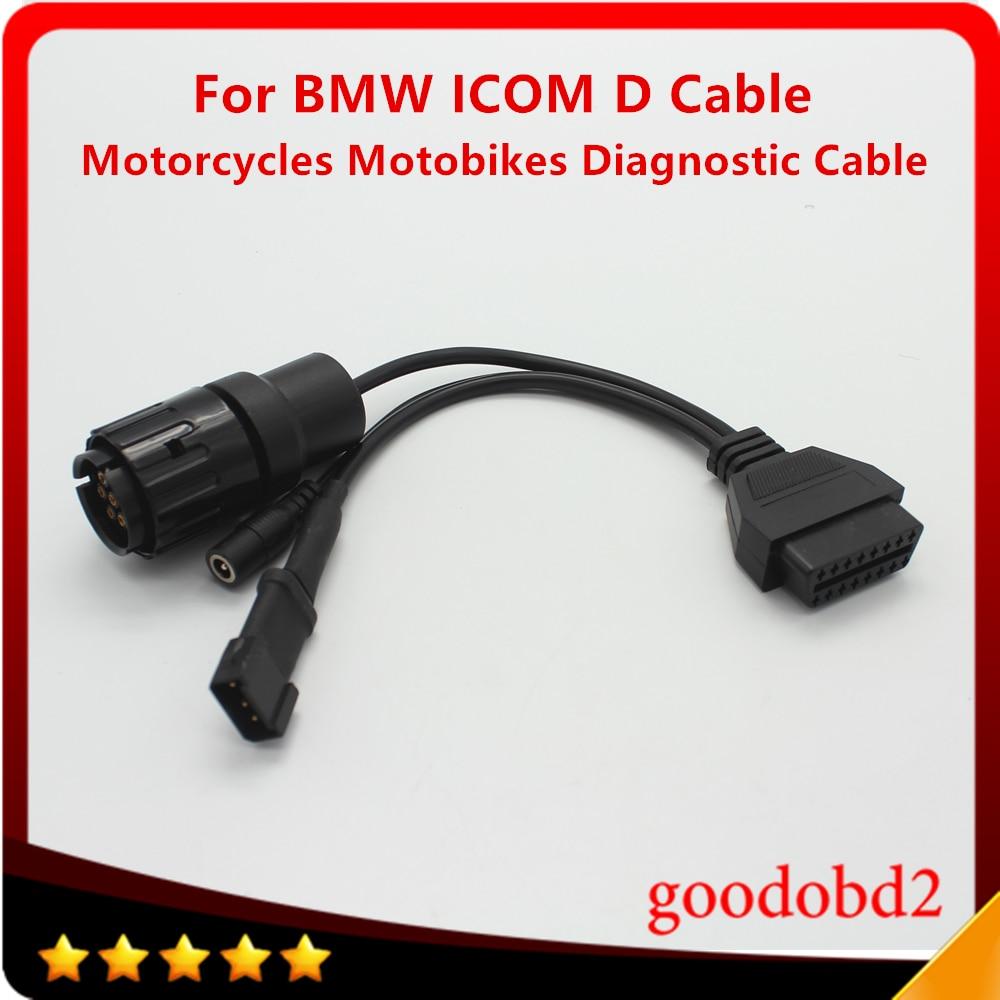 Диагностический кабель для мотоциклов и мотоциклов BMW ICOM D, 10-контактный адаптер для OBD2, 16 Pin