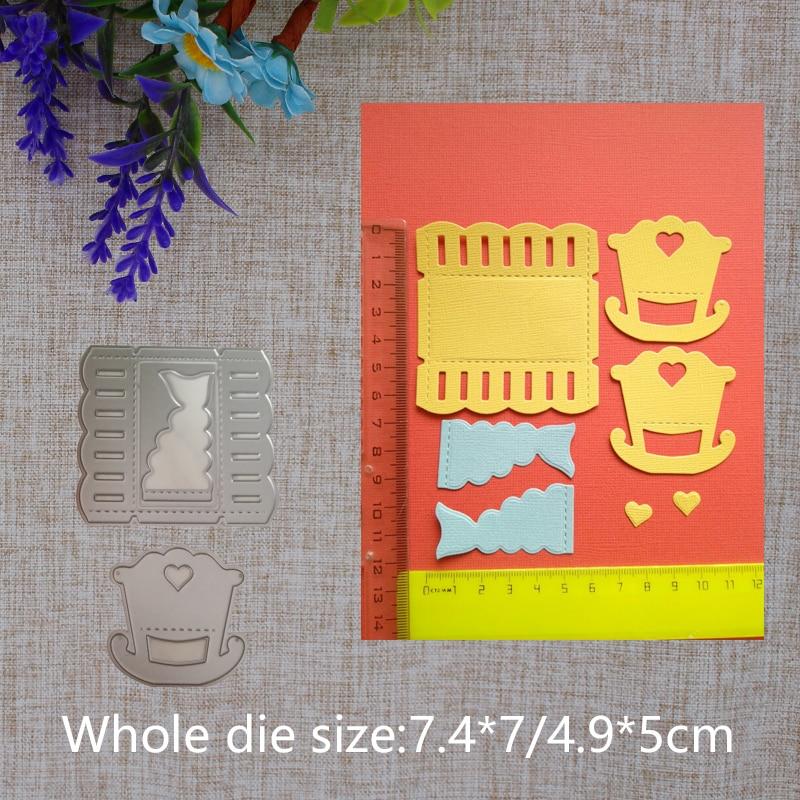 2019 New Arrival  Baby Crid Cradle Metal Cutting Dies Stencil DIY Scrapbooking Embossing Decorative Photo Album Paper Card Craft