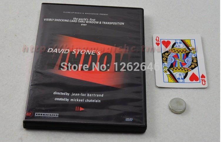 Free Shipping! 2009 WINDOW By David S - Magic Tricks,Illusions,Close Up,Mentalism,Stage,Accessories, Toys,Comedy недорого
