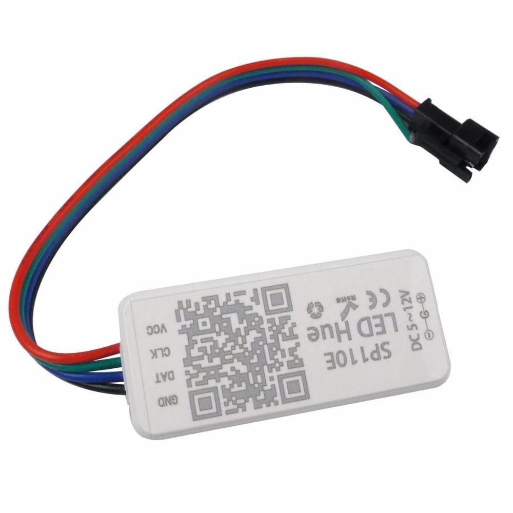 SP110E Bluetooth Controller for For WS2811 WS2812B WS2813 SK9822 APA102 LED Strip