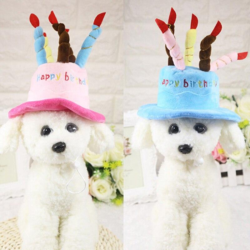 Gorros para mascotas para perros, gorros de cumpleaños para perros, perros y gatos, gorros con velas para pastel, sombreros de diseño para fiesta de cumpleaños, accesorios para sombreros
