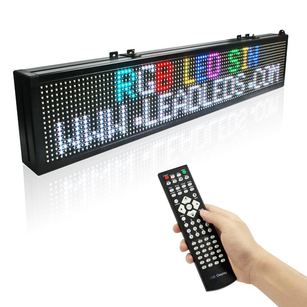 1,25 м Пульт дистанционного управления светодиодный дисплей Крытый Программируемый Прокрутка сообщения светодиодная вывеска для бизнеса и ...