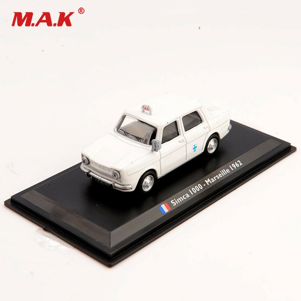 1/43 Escala de aleación Diecast TAXI modelo TAXI Simca 1000-Marseille 1962 vehículos modelo para Fans niños regalos de cumpleaños
