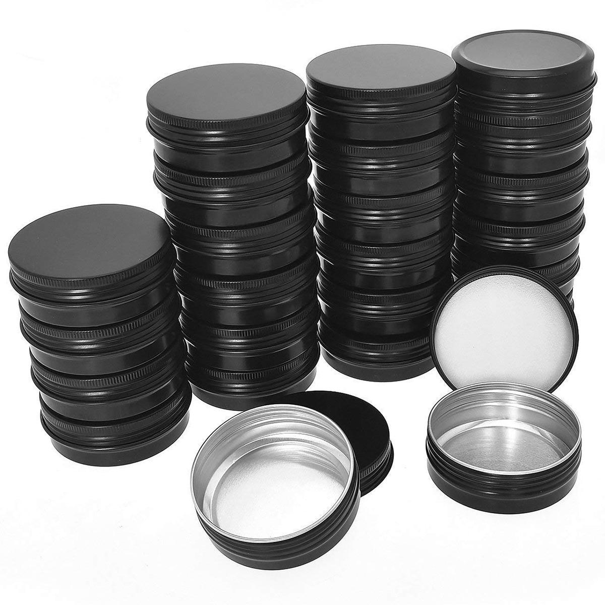 CHFL алюминиевые жестяные банки-40 упаковок 1 унций/30 г круглый металлический жестяный контейнер винтовые верхние банки контейнеры для космет...