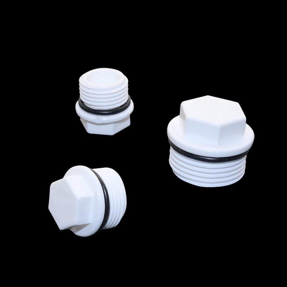 1/2, 3/4, conector roscado macho de 1 pulgada, tubo de PVC, accesorio conector de tubería de tornillo estándar europeo, tapas de tubo, accesorios de fontanería, 6 uds