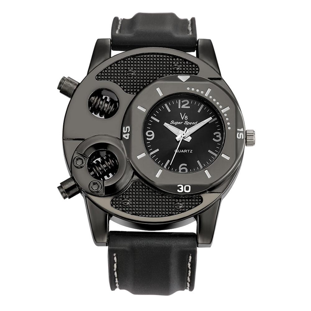 Mens Watches Top Brand Luxury V8 Men's Wrist Watches Fashion Designer Gifts For Men Sport Quartz Wat