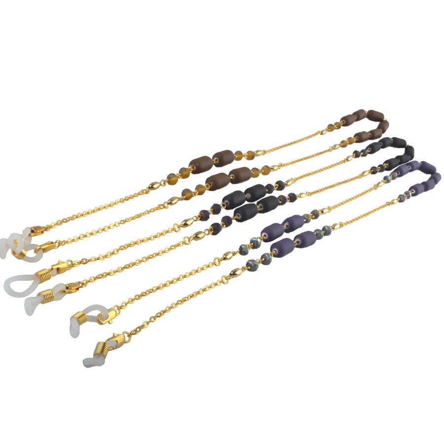 حزام نظارة شمسية ، قراءة ، زجاج ، معدن ذهبي ، حزام عنق ، سلك ، بالجملة ، 10 قطعة