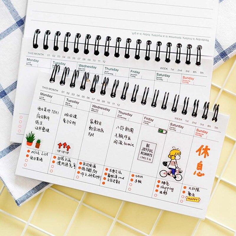 Planificador diario semanal Kawaii, cuaderno de Sushi, organizador de Agenda, Papelería, Material Escolar, Color al azar