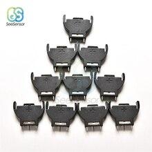 10Pcs Black Plastic CR2032 2032 3V Cell Coin Battery Socket Half Round Holder Case Storage Box 3 Pin
