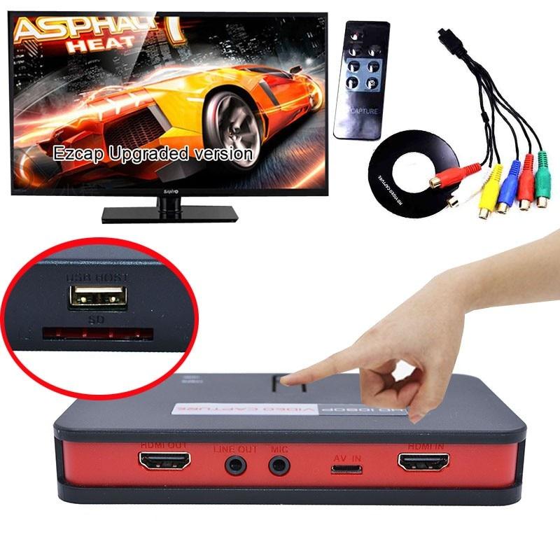 EZCAP 284 1080P HD التقاط الفيديو مربع المنتزع ل XBOX PS3 PS4 التلفزيون الطبية على الانترنت فيديو بث فيديو مسجل