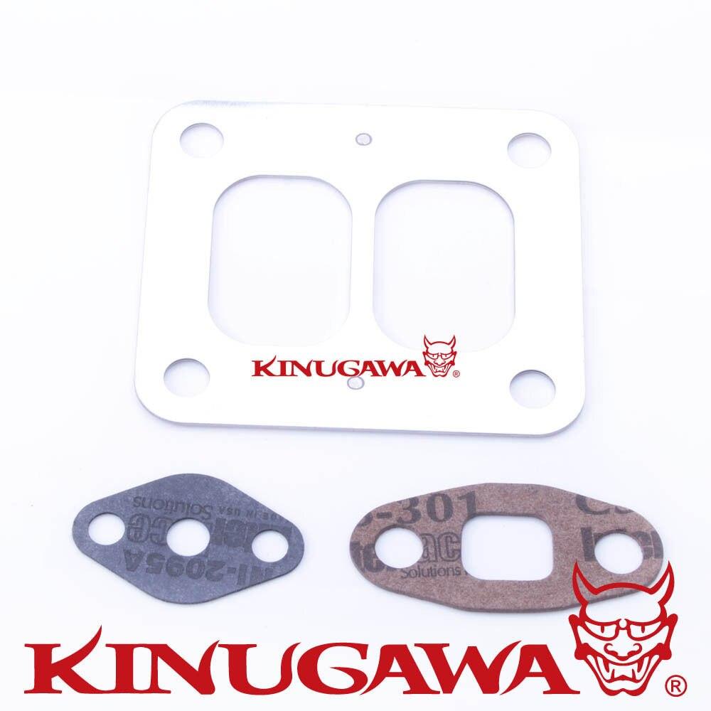 Комплект прокладок турбины производства компании kinugawa впускной и масляной прокладки комплект для Garrett T4 T04B T04E GT40 GT42 GT45