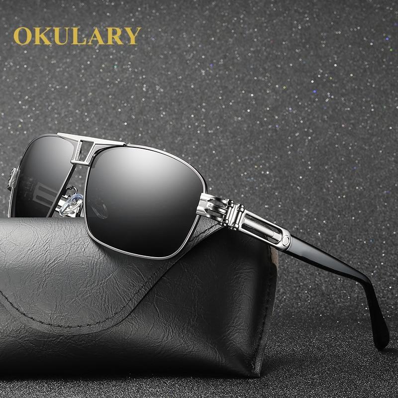 2021 Men Polarized Sunglasses UV400 Men Driving Glasses Silver/Brown Frame Come with Box