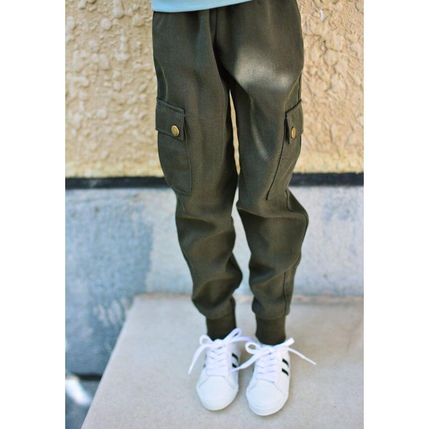 "BJD muñeca ejército verde Causual pantalones trajes de pantalones para 1/4 masculino 1/3 SD17 70cm24 ""alto BJD muñeca SD DK DZ MSD AOD DD muñeca"