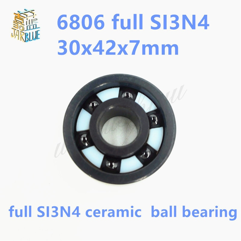 Free shipping 6806 full SI3N4 ceramic deep groove ball bearing 30x42x7mmP5 ABEC5
