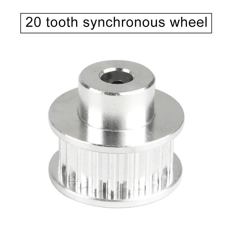 Rueda síncrona de la polea de la correa dentada de aluminio 3GT 20 para ofertas de impresora 3D