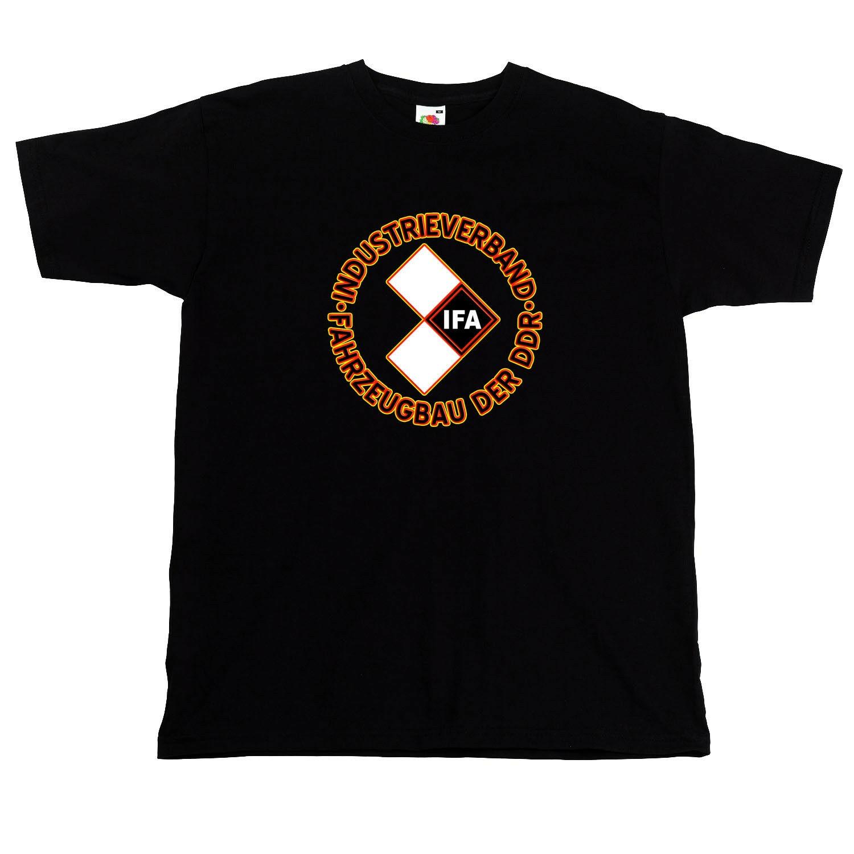 Camiseta Gdr Automotive Association Ifa Logo camiseta negra marca 2019 nueva camiseta hombre algodón camiseta hombres Ropa Camisetas de dibujos animados