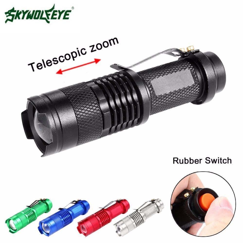 Мини Портативный фонарик освещение 3800LM факел T6 LED Zoom наружный кемпинг свет водонепроницаемый масштабируемый фонарь 14500 лампа АА