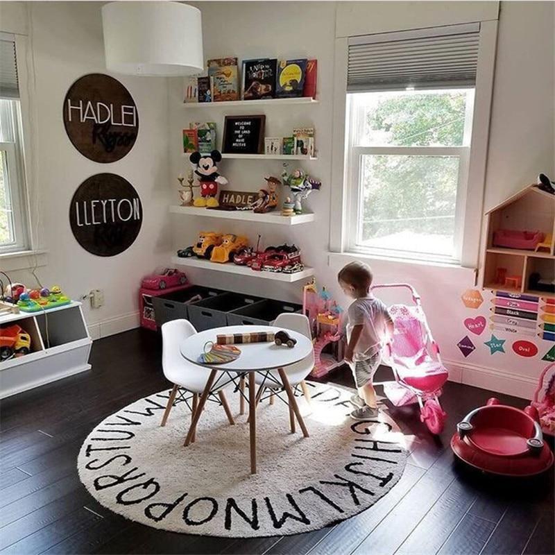 سجادة دائرية مطبوعة بالحروف الأبجدية ، سجادة لعب للأطفال الصغار ، للزحف ، صالة الألعاب الرياضية ، النشاط ، الأرض ، بطانية
