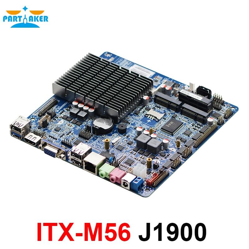 Carte mère mince iTX ITX-M56 Intel Celeron J1900 sans ventilateur