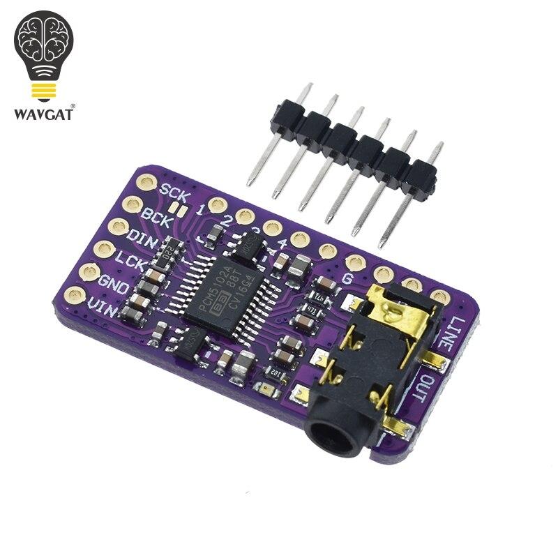 Интерфейс I2S PCM5102A DAC декодер GY-PCM5102 I2S плеер модуль для Raspberry Pi pHAT формат платы цифровой PCM5102 аудио Плата