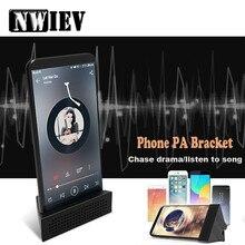 NWIEV Enhance the sound Bracket Car Phone Holder For Skoda Fabia Superb Volkswagen B6 B5 T5 Mini Cooper Countryman F60 Clubman