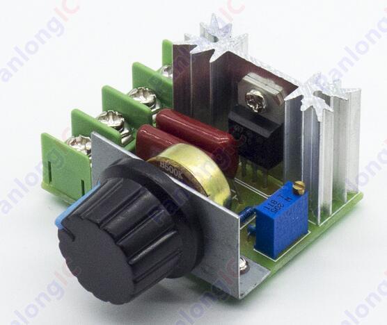 Regulador de voltaje oscurecimiento regulador de velocidad del termostato regulador de voltaje SCR AC 220 V 2000 W envío gratis
