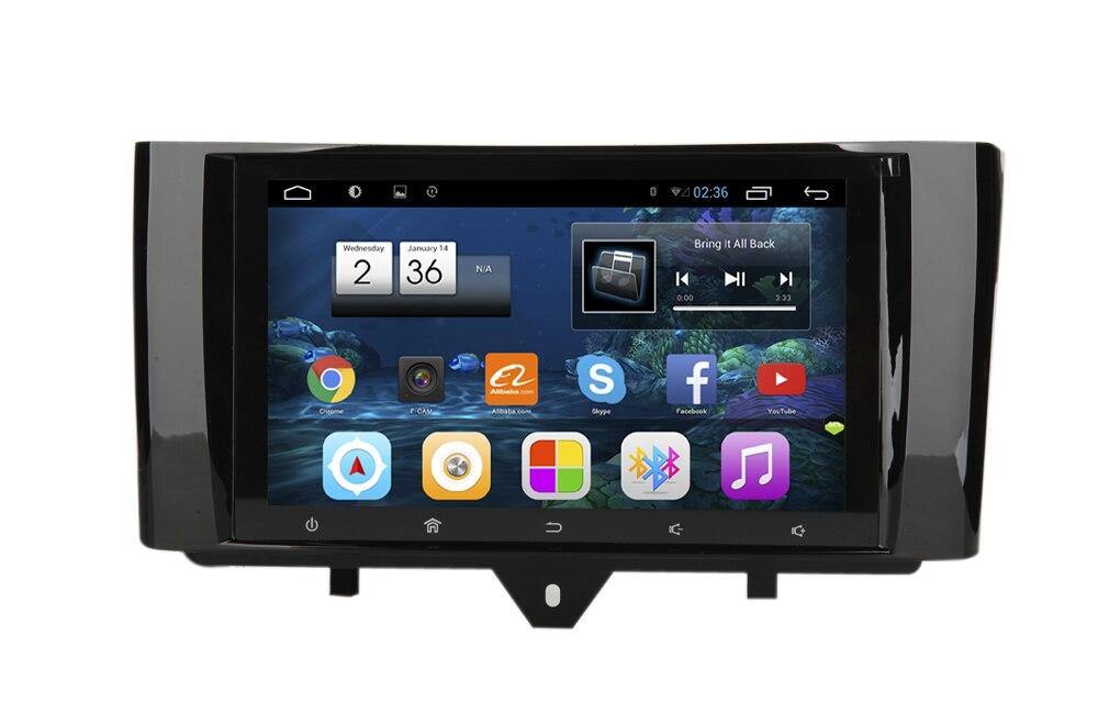 Reproductor de Radio estéreo de 9 pulgadas 2G RAM Android 6,0 sistema de navegación GPS de coche para mercedes-benz Smart Fortwo 2010-2015