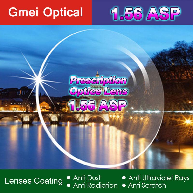 High Quality Radiation Protection Index 1.56 Clear Optical Single Vision Lens HMC, EMI Aspheric Anti