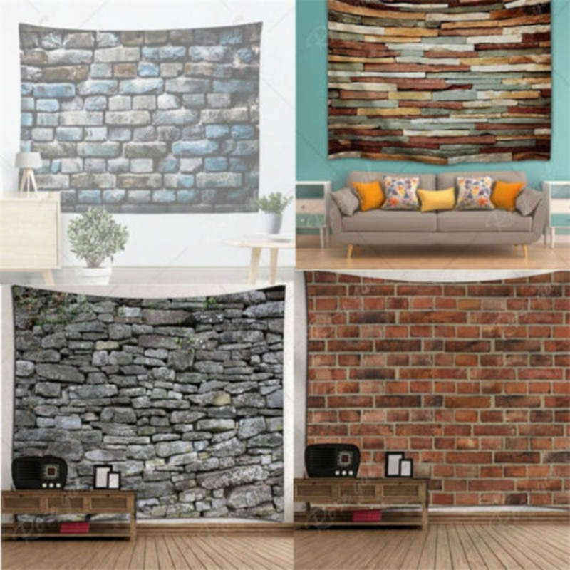USA Stone Brick Retro Tapestry Wall Hanging Bohemia Tapestry Home Decoration