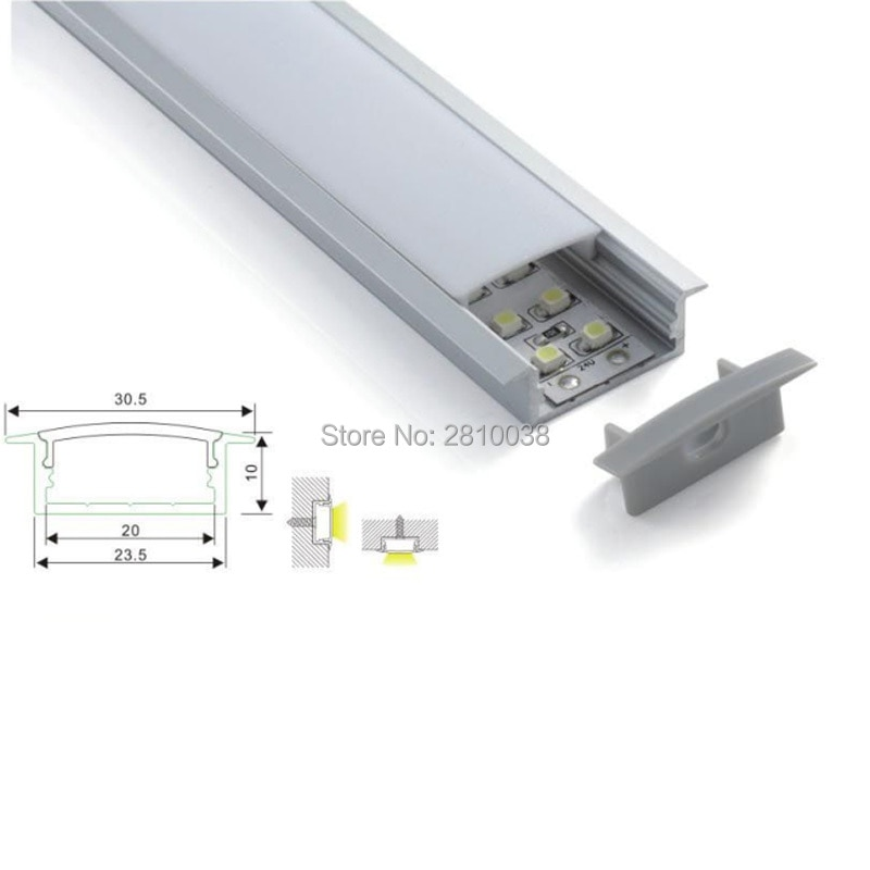 500 X 1M Sets/Lot Linear flange aluminum profile for led and T-shape recessed led extrusion housing for ceiling wall lamps