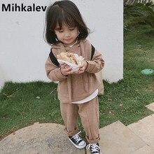 Mihkalev enfants vêtements filles survêtement ensemble 2020 printemps enfants vêtements ensemble hauts + pantalons 2 pièces filles sport costumes bébé tenues