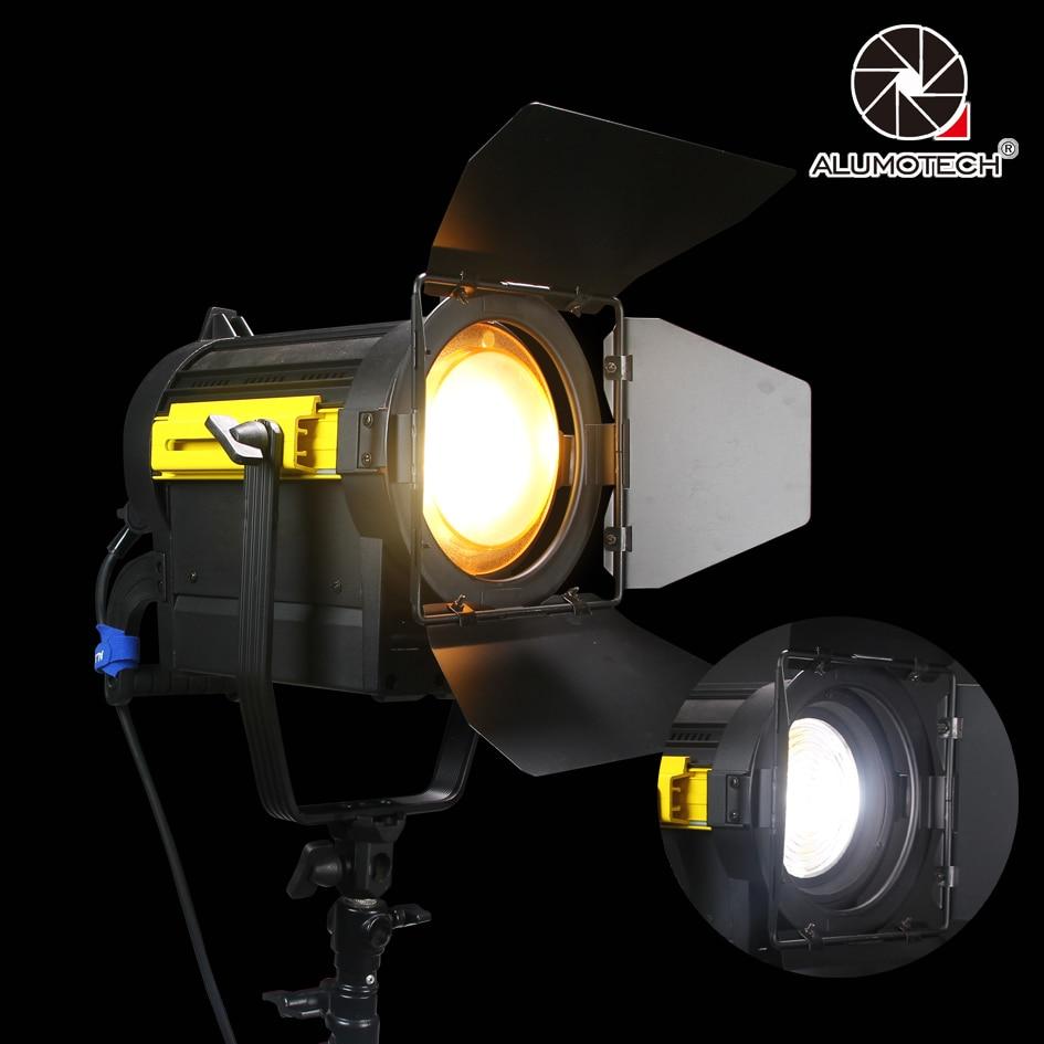 ALUMOTECH Tageslicht 150W LED Fresnel Objektiv Spot Kontinuierliche Lampe Für Film Kamera Video Studio Fotografie Beleuchtung