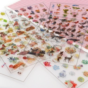 5 Transparent PVC Stickers Handmade Books Diary Diy Album Decoration Materials Stickers Korea Creative Growth Handmade Gifts