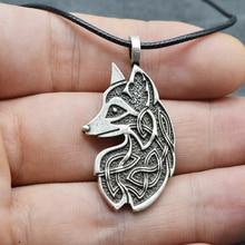 1pc Viking Vos Amulet Kettingen Celtics Knoop Hanger Sieraden Voor Vrouwen Mannen