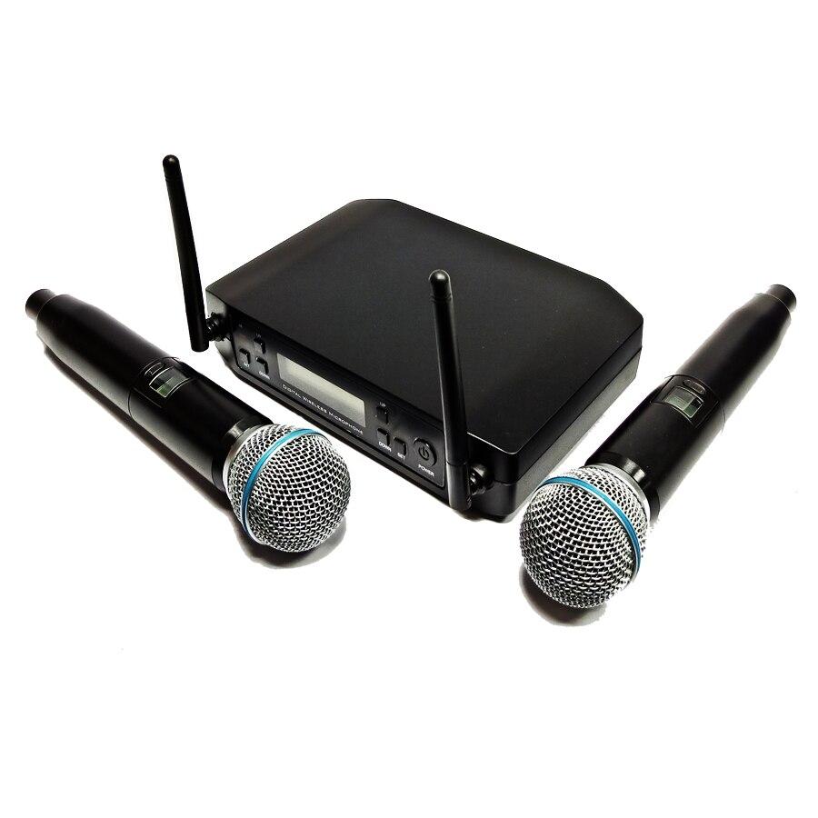 GLXD GLX-D PGX seis BLX QLX 24 receptor beta58a estilo UHF de mano transmisor etapa sistema con micrófono inalámbrico