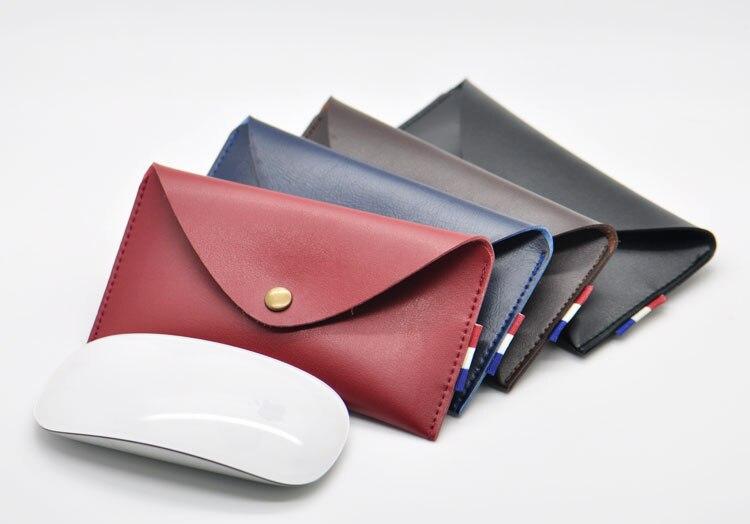 Прибытие продажи ультра-тонкий супер тонкий рукав чехол, микрофибра кожа ноутбук рукав чехол для Apple Magic Mouse 2