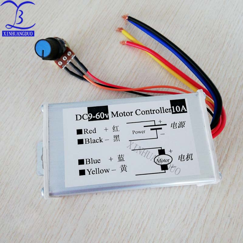 Envío gratis 1 piezas 9 V-60 V 10A DC regulador de velocidad del Motor modulador de ancho de pulso PWM interruptor de Control nuevo