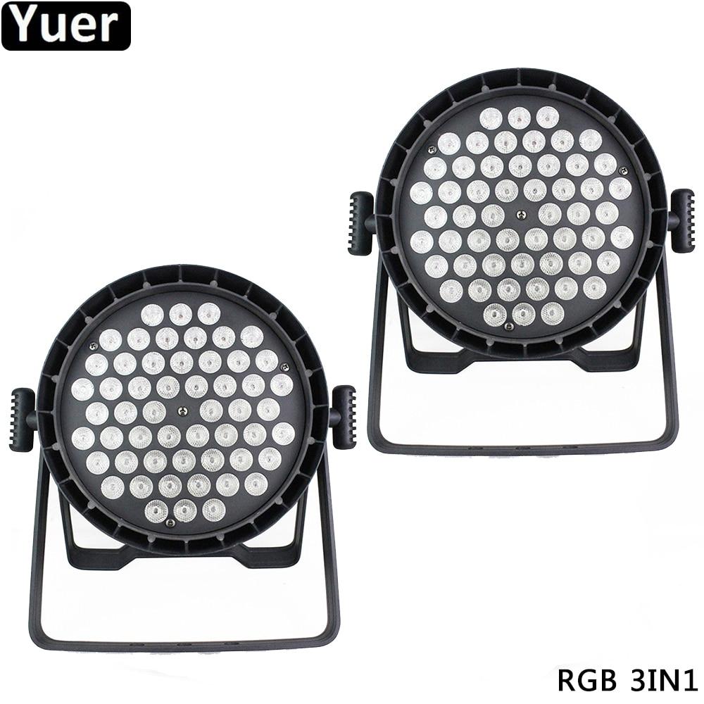 2Pcs/Lot Aluminum 54x3W RGB 3IN1 LED Stage Par Light DMX512 Wash Effect DJ Disco Light Wedding Party Club Bar Stage Par Lighting