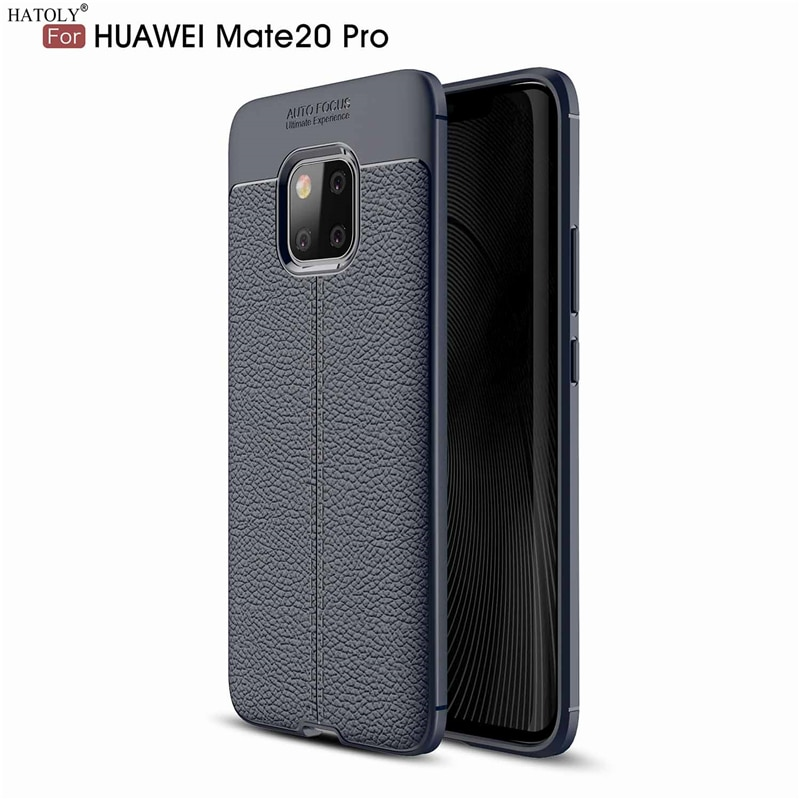 HATOLY Case For Huawei Mate 20 Pro Pattern PU Leather Dirty Resistant Soft TPU Silicon Back Cover Ca