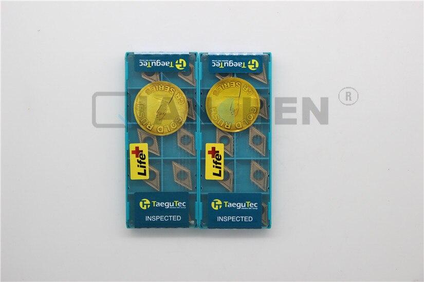 TaeguTec ، 10 قطعة/الوحدة ، مخرطة أدوات ، DCMT11T304-MT TT8115 DCMT11T304 MT TT8115 ، كربيد إدراج ، الوجه مطحنة مخرطة أدوات القاطع CNC أداة